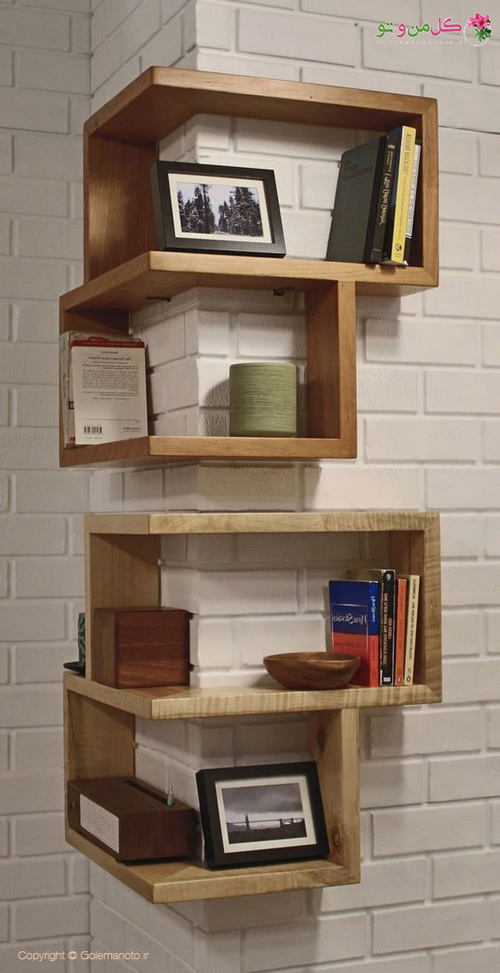 چیدمان آپارتمان های کوچک - استفاده از کتابخانه