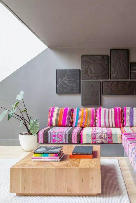 رنگ طوسی برای اتاق نشیمن