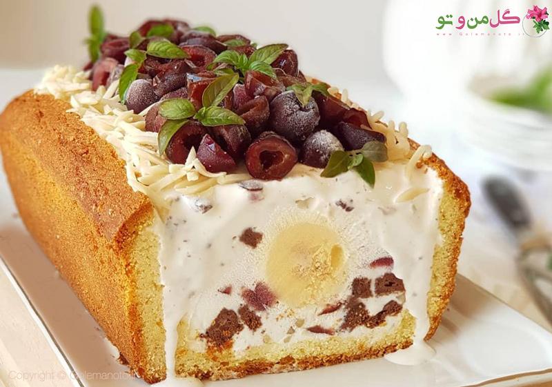 طرز تهیه کیک بستنی لیمویی