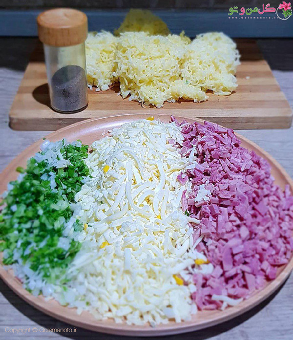 مراحل تهیه توپک سیب زمینی