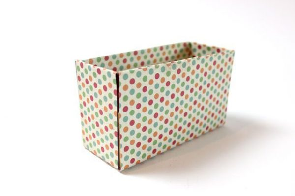 پوشاندن جعبه ها با کاغذ کادو