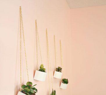 طرز ساخت گلدان آویز دیواری