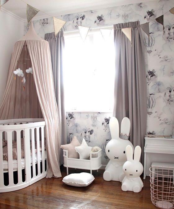 اتاق نوزاد دختر با تم خرگوش