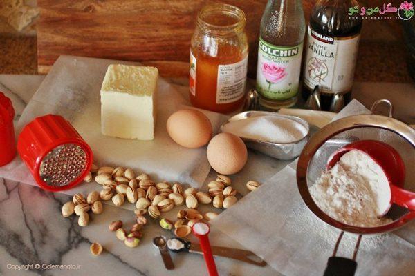 مواد لازم برای پخت شیرینی مربایی خانگی