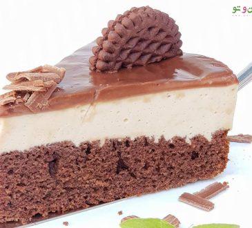 طرز تهیه چیز کیک شکلاتی نسکافه ای