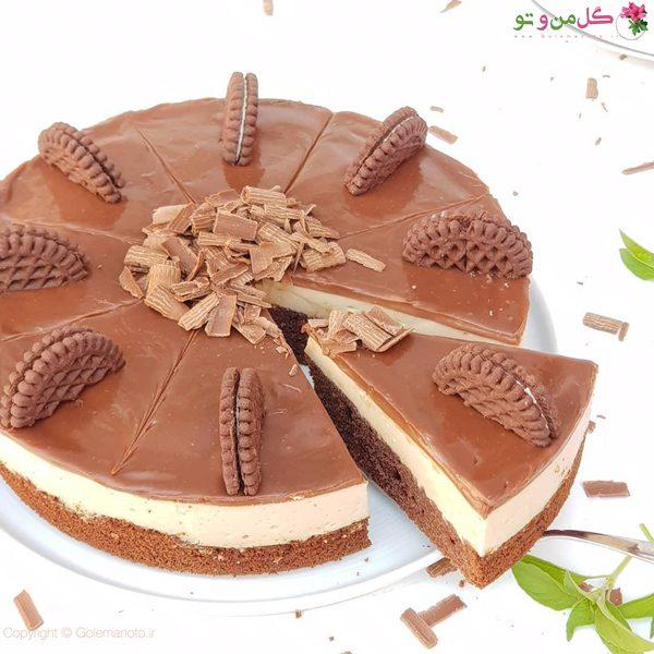 چیز کیک شکلاتی نسکافه ای