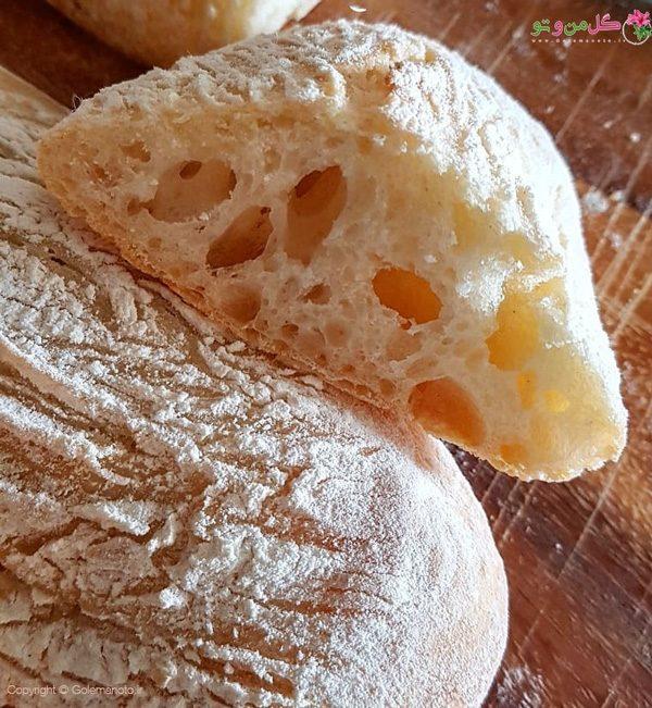 طرز تهیه نان چاباتا