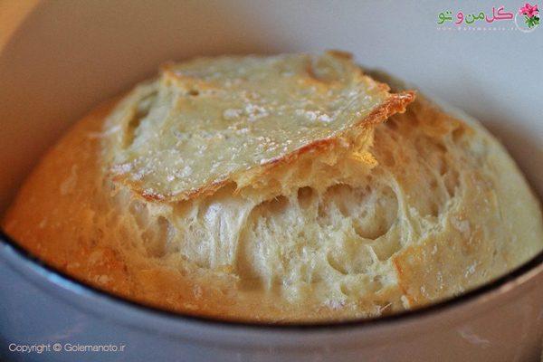 پخت نان ترد فوری
