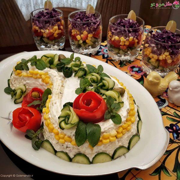 غذاهای نونی برای شام - سالاد اولویه