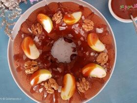 طرز تهیه بانت کیک موز و سیب با سس کاراملی