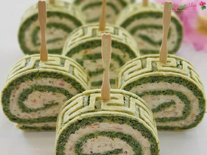 طرز تهیه رول کوکو سبزی