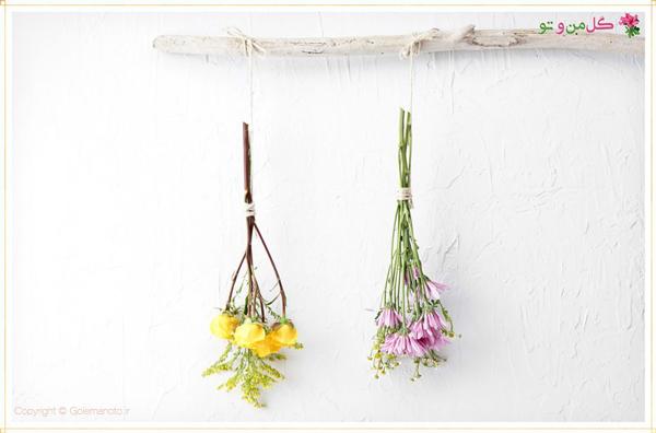 خشک کردن گل طبیعی به روش هوایی