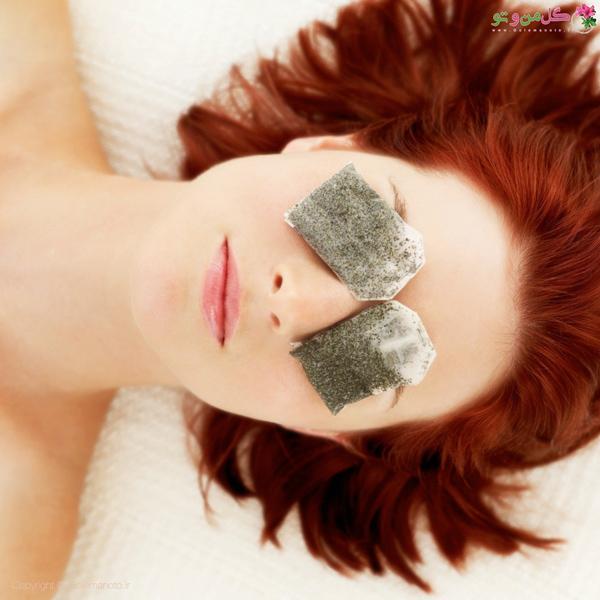 چای کیسه ای کاهش التهاب زیر چشم
