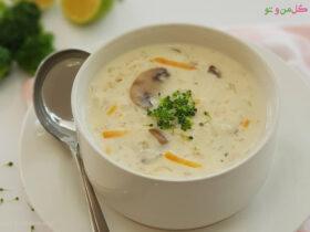 طرز تهیه سوپ شیر و قارچ مجلسی
