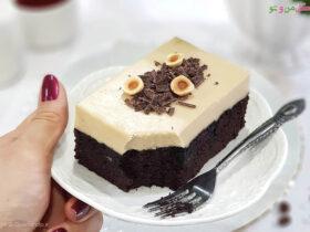 طرز تهیه کیک شکلاتی کافی شاپی