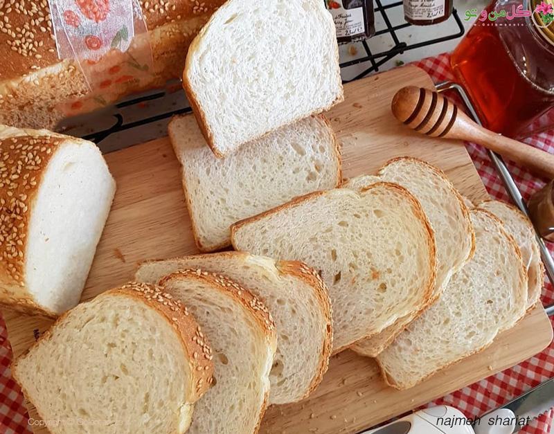 طرز تهیه نان تست سفید خانگی