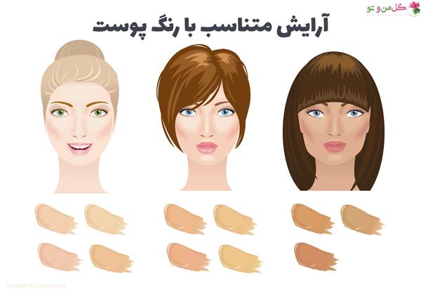 آرایش متناسب با رنگ پوست