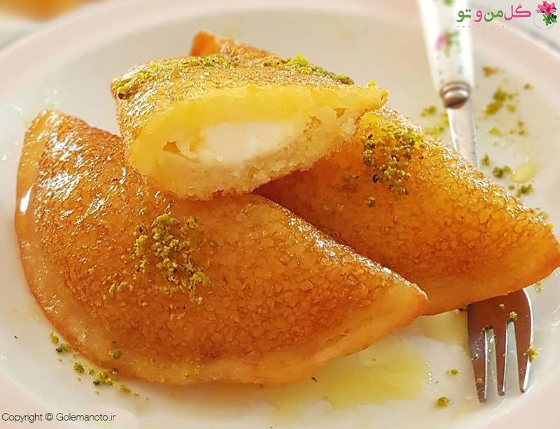 طرز تهیه شیرینی قطایف عربی