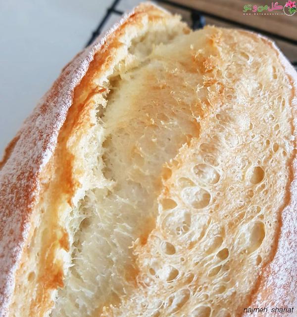 بافت نان اک مک بدون خمیر ترش