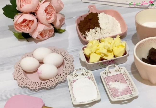 مواد لازم برای تهیه کیک شکلاتی پنیری
