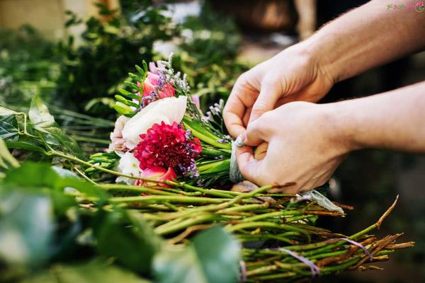 اندازه دسته گل برای مراسم