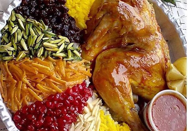 غذاهای برنجی - زرشک پلو با مرغ