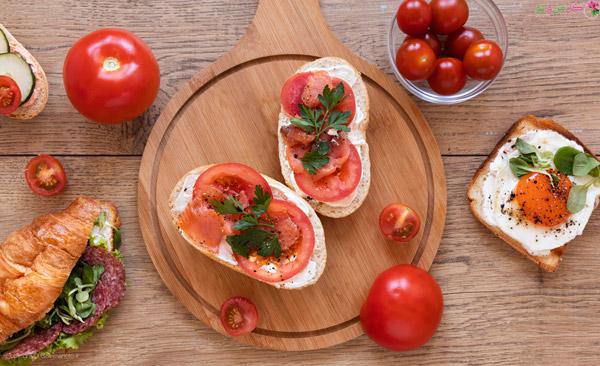 غذای مناسب صبحانه - گوجه خیار
