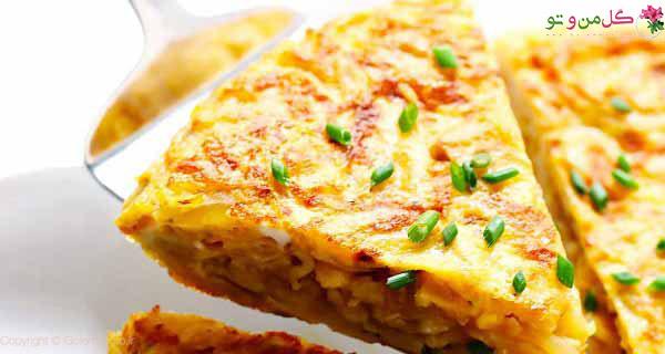 غذای نونی با سیب زمینی - املت اسپانیایی