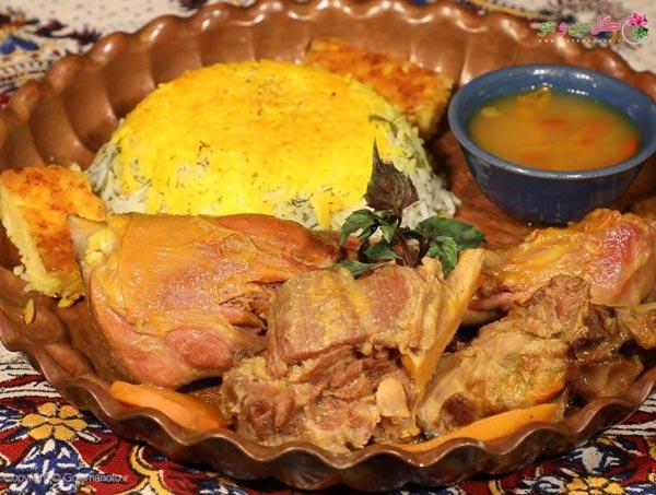 باقالا پلو ایرانی - غذای محبوب