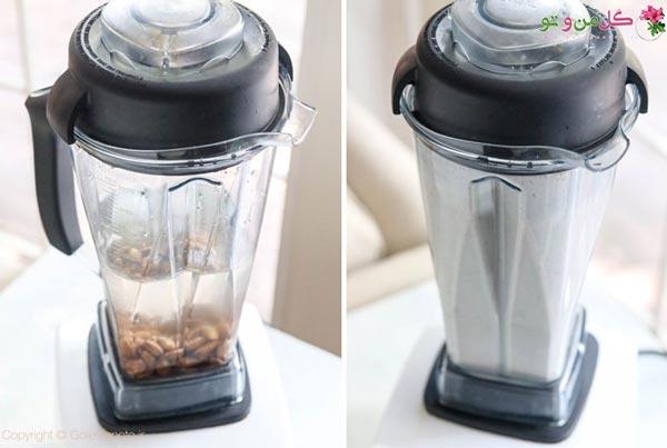 طرز تهیه شیر بادام در خانه - آب مخلوط کن