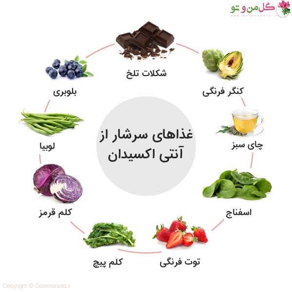 مواد غذایی سرشار از آنتی اکسیدان