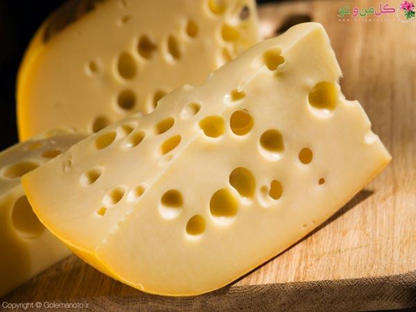 انواع پنیرهای خوشمزه - پنیر سوئیسی