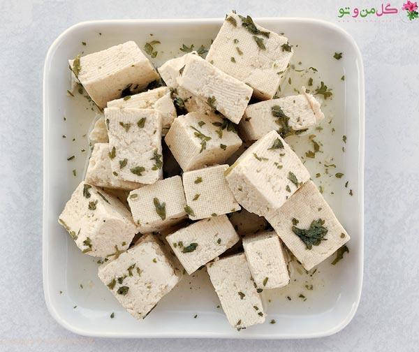 انواع پنیر - پنیر توفو