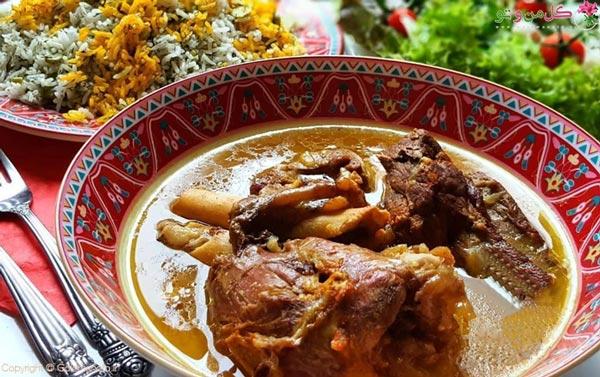باقالی پلو با ماهیچه غذای مجلسی ایرانی
