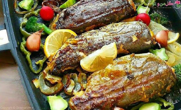 غذای مجلسی جنوبی ماهی شکم پر