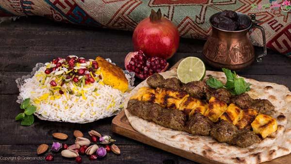 کباب معروف ترین غذای مجلسی ایرانی