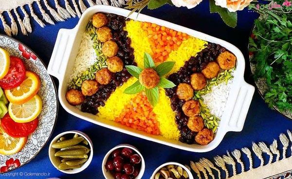 هویج پلو غذای تبریزی