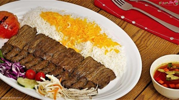 کباب برگ ایرانی