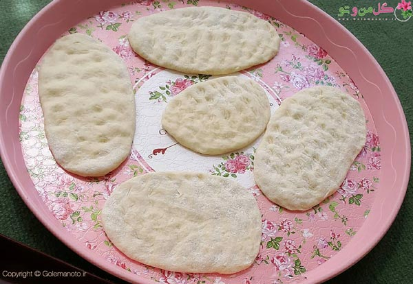 مراحل پخت شیرینی برساق سنندج
