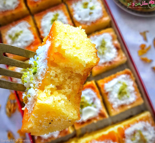 کیک شربتی بدون فر