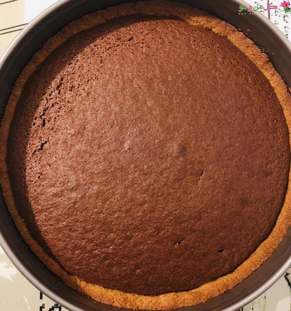 مراحل تارت کیک شکلاتی با بادام