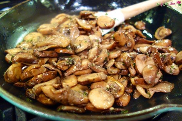 غذاهای رژیمی با مرغ - مرغ و قارچ