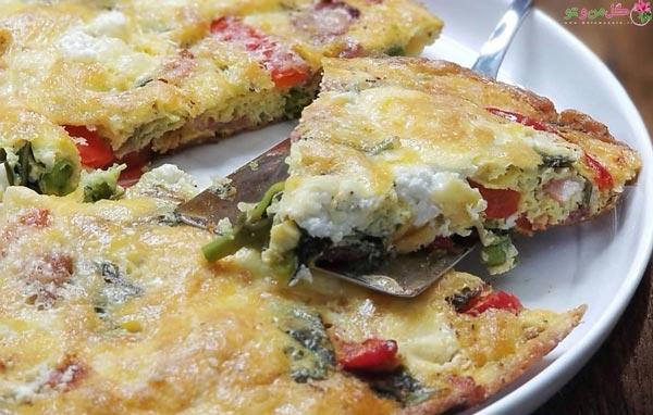 غذاهای رژیمی برای شام املت سبزیجات