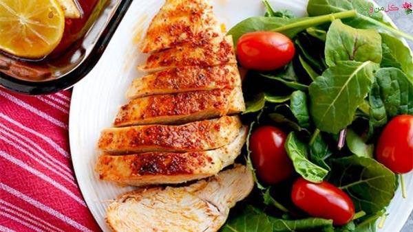 غذای رژیمی با سینه مرغ