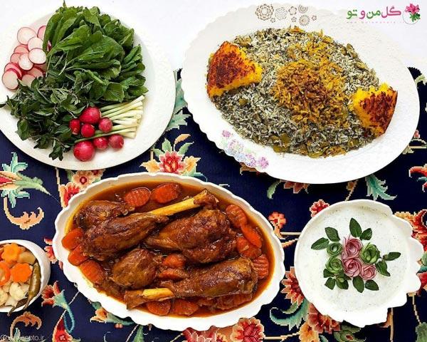 باقالی پلو غذای سنتی ایرانی