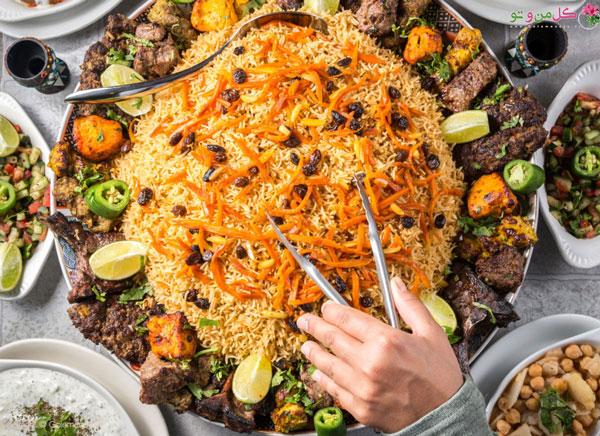 رشته پلو غذای سنتی ایرانی