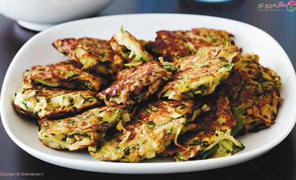 غذاهای نونی ساده و سریع - کوکو کدو سبز